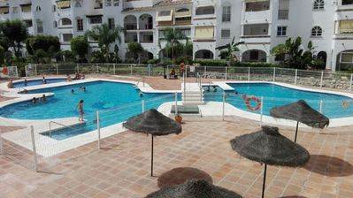 Photo for Beautiful 2 Bed Penthouse Apartment approx 200 metres from Bil-Bil beach
