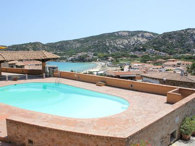 Photo for Apartment just a Few Meters from the Beach with Garden, Pool and Terrace
