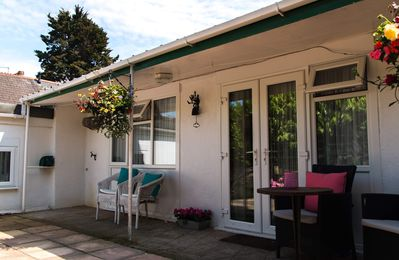 Photo for Self Catering Garden Chalet With Parking. Dog Friendly!