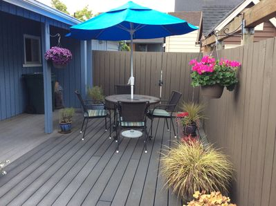 Deck, perfect for enjoying long Seattle summer evenings.