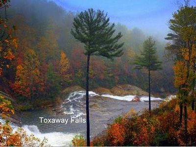 View from your deck -Lake Toxaway Waterfall