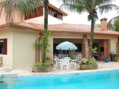 Photo for Large house w / pool, 4 bedrooms, 20 people, Option two beaches (600 meters)