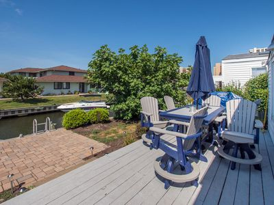 Photo for The Anchor - 4 Bedroom Home on Canal with Grill - Walk to Beach!