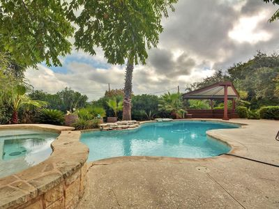 Photo for Perched Above Lake Travis with Lake Views– 4BR, Sleeps 12!  Pool!