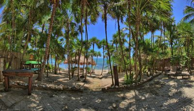 The view from the beachside patio of Soliman Bay.