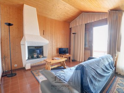 Photo for South studio with 1 double bed, an eating place, a sofa, a TV and a fireplace. The kitchenette is eq