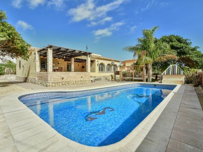 Photo for Large 4 bedroom Villa with private pool sleeps 10 very close to beach and marina