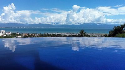 Photo for Gorgeous Home with incredible views of the bay and mountains and infinity pool with 2 master suites
