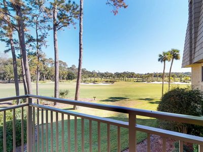 Photo for Second-floor condo with shared pool, near the beach - golf course views!