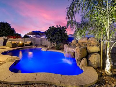 Photo for A Desert Oasis with Heated Waterfall Pool! ☆Quiet Central Location☆