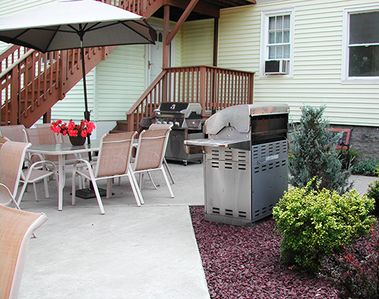 Gas Grill and Patio for Outdoor Dining