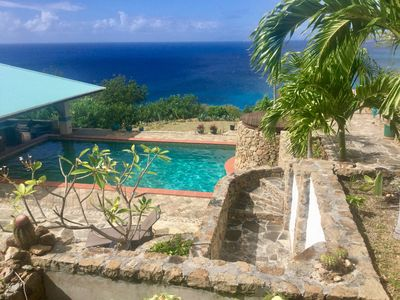 Photo for Spectacular Villa overlooking Falmouth Harbour!  200 degree ocean view!