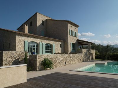 Photo for Beautiful villa with panoramic view, in the hills of the Mont Ventoux