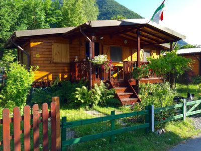 Photo for Luxurious wooden chalets directly on Lago di Lugano - Porlezza - Milan - Como - 3 ***