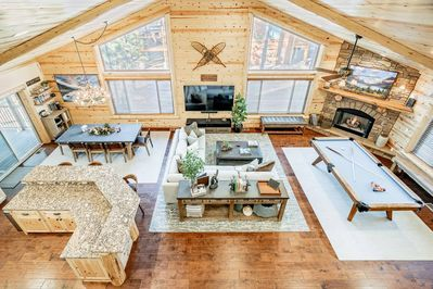 Roomy, open floor plan with plenty of light and views of the yard.