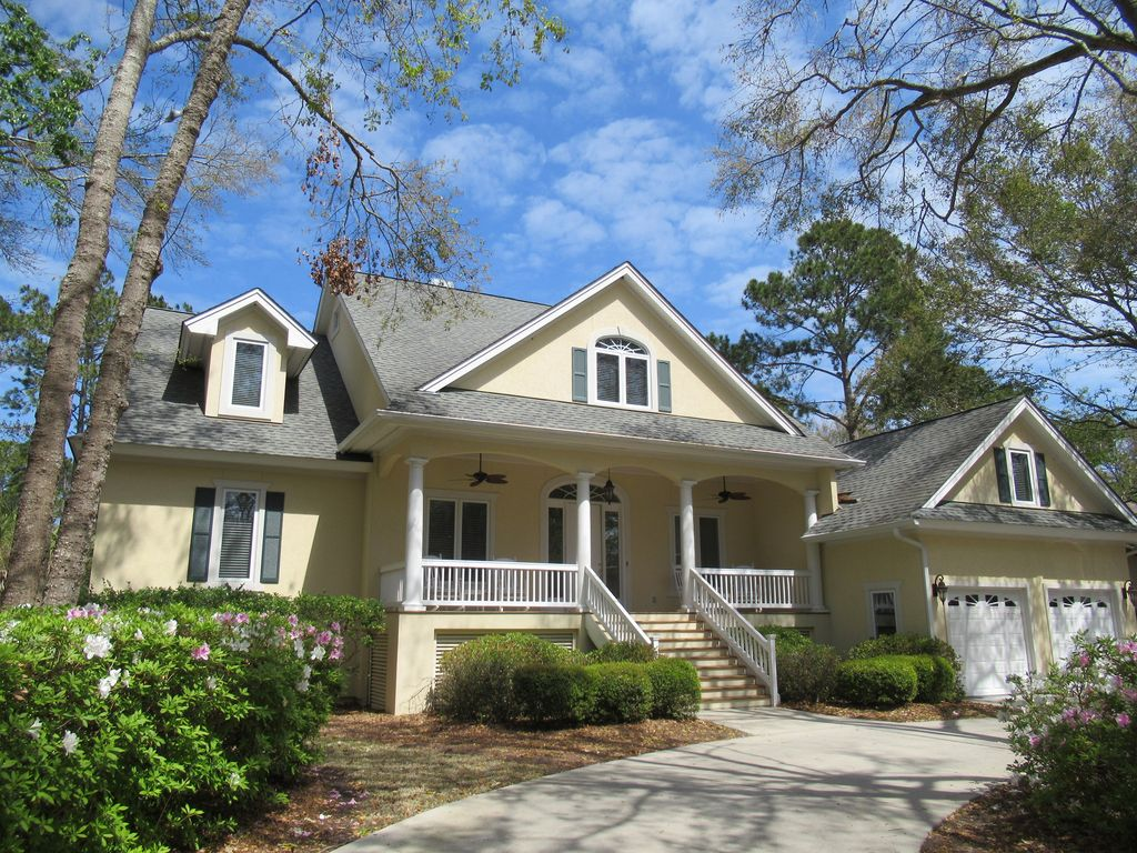 Pleasant Spacious Home On Lake W Pool Spa Short Walk To Beach Hilton Head Island Download Free Architecture Designs Grimeyleaguecom