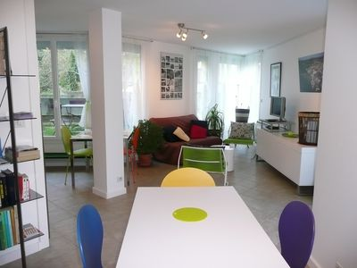 Photo for 63 m2 apartment (2 bedrooms and 3 terraces) GIVORS