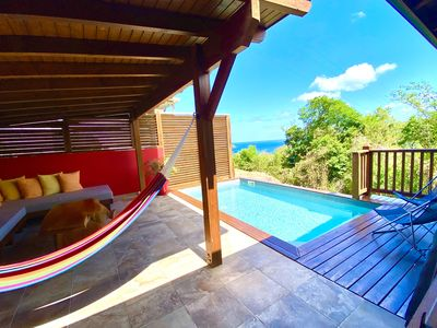 Photo for Magnificent bungalow for rent for 4 people, private pool and sea view.