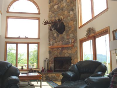 Heights Towering fireplace