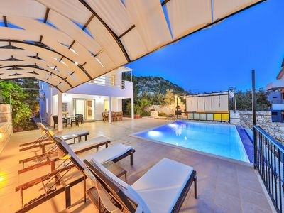 Photo for 4-bedroom villa with a private pool and stunning sea views
