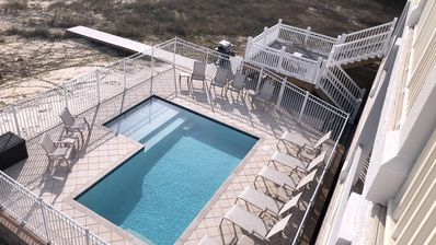 Photo for Gulf-front, pet-friendly, elevator, private pool, parking for boats