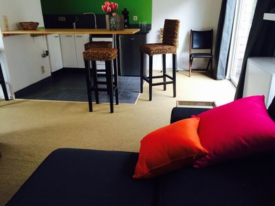 Photo for Penthouse furnished & connected for business, tourism, divorce. Free parking