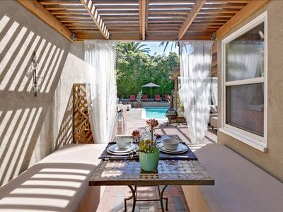Photo for Serene LA Getaway With Chic Outdoor Lounge Poolside Cabanas