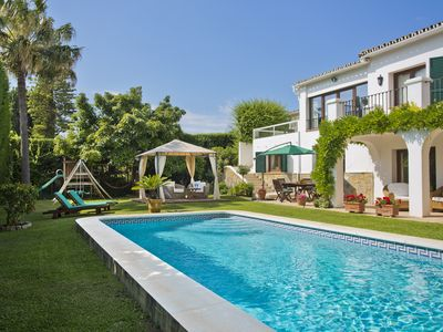 Photo for Puerto Banus Private pool and garden. 200m of golf, restaurants and shops