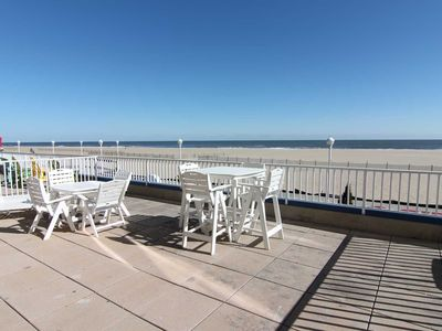 Photo for Georgous Large Ocean Front Condo on Boardwalk w/ Extended Balcony sleeps 11