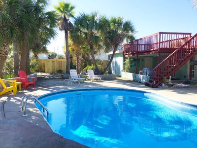 Photo for Private Beach Home. Private Pool, Fenced Yard! Short Walk to Sand!