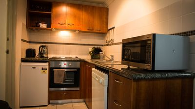 Fully self contained kitchen, or a restaurant downstairs!