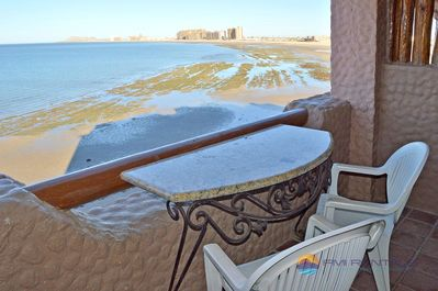 Balcony with beautiful view of the sea of cortez