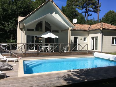 Photo for House VILLA WOOD 4 * (6 PERS) ON GOLF BISCARROSSE, HEATED POOL, QUIET