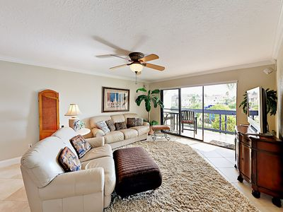 Photo for 2BR Condo w/ Pool & Waterway Views - Walk to Beach, Near St. Petersburg-Clear