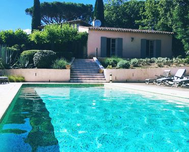 Photo for Provencal 4 bedroom villa with large private heated pool near St Tropez