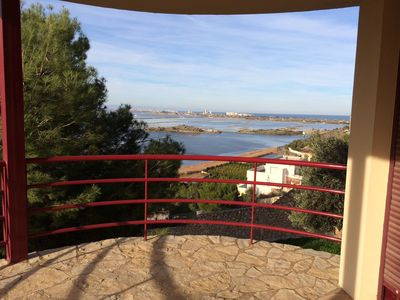 Photo for Modern luxury villa with stunning views over rice fields and Valencian coast