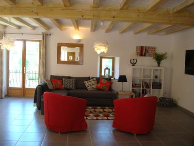 Photo for A stunning, spacious, newly renovated home in the beautiful village of Camon