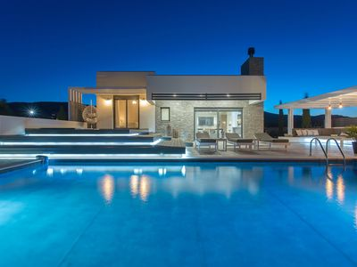 Photo for Eden Luxury Villa near Lindos with Eco Pool and an outdoor Jacuzzi