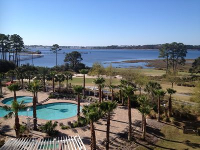 Photo for Bayfront Golf & Marina unit overlooks the Bay, Pool, & Golf Course!