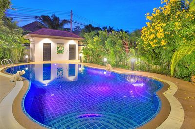 Beautiful secluded private pool with surrounding garden