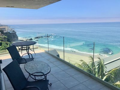 Photo for ON THE BEACH BEST Ocean Front 270 Degree View CORNER UNIT Condo in Laguna Beach