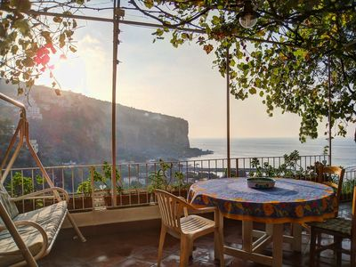 Photo for Villa Iole on the sea with Garden - Discover Amalfi and Sorrento Coast