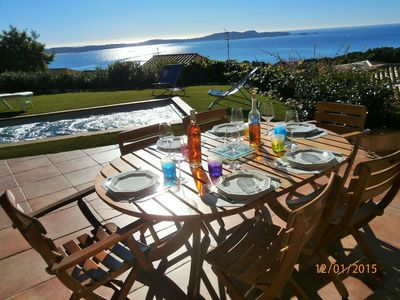 Photo for Superb sunny sea view villa with swimming SPA on Mont des Oiseaux
