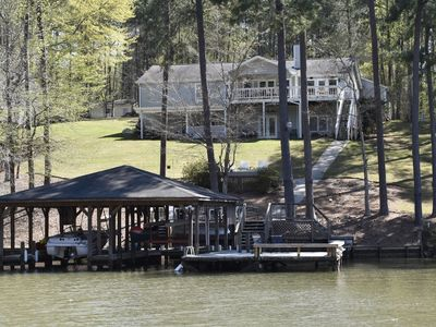 Photo for Spacious Lakefront Home on Quiet Deep Water Cove with Amazing Views!