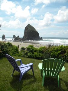 Photo for Beautiful Ocean Front Haystack Rock View