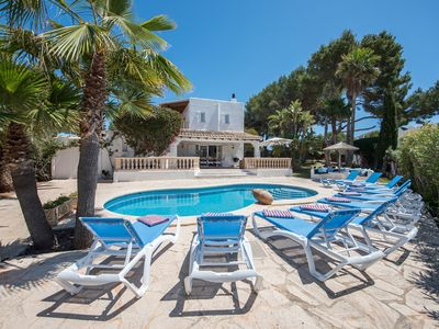 Photo for Villa Serena - Attractive Villa with Air Conditioning, WiFi, Private Pool and only 250m from the Idyllic Beach of Cala Serena! - Free WiFi