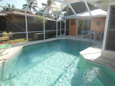 Photo for 3 Bdrm Waterfront Pool Home Close to the Beach
