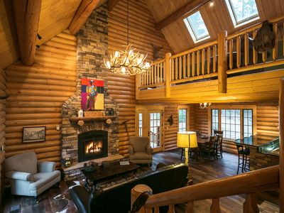 Photo for Unique, Secluded, Luxury Log Cabin in the Gold Country w/EV Charger