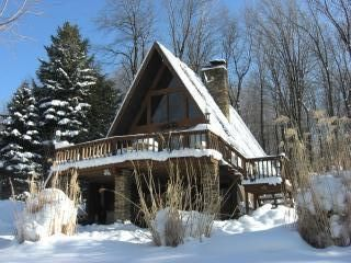 Photo for Unique A-Frame Chalet with Hot Tub and Sauna on secluded 1 acre