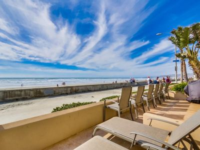 Photo for Ocean Front * Exclusive Patio * Ground Level * AC